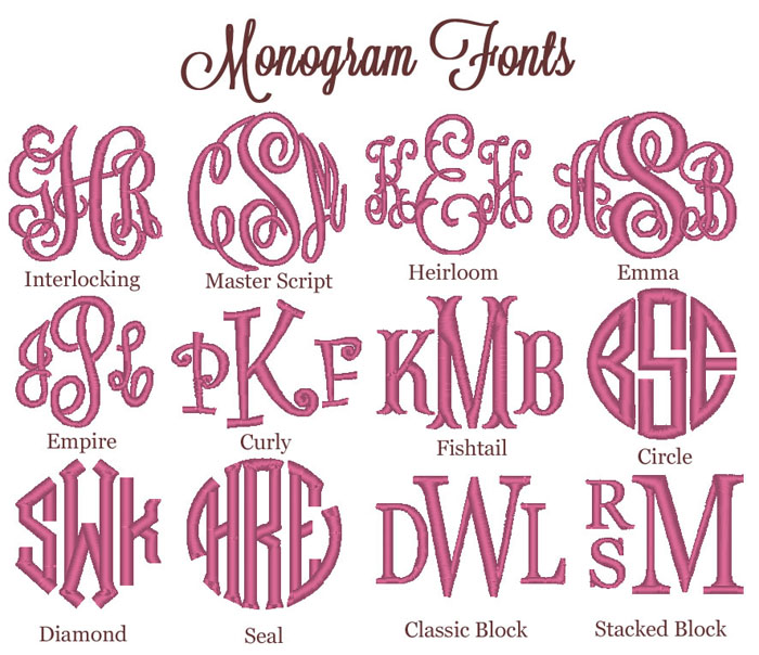 Free Monogram Embroidery Fonts
