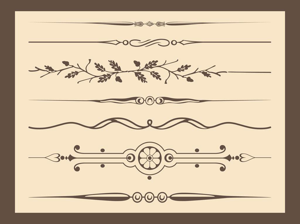 Free Ornament Vector Lines