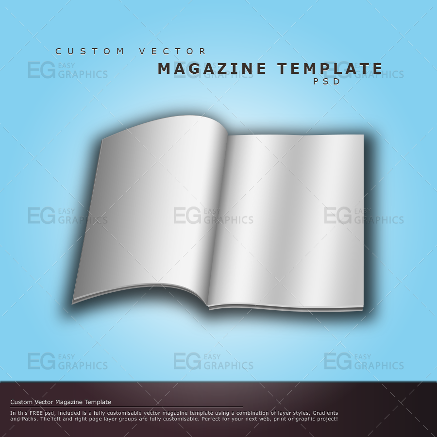 Magazine cover template psd