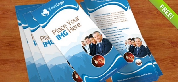 Free Rack Card Template PSD Downloads