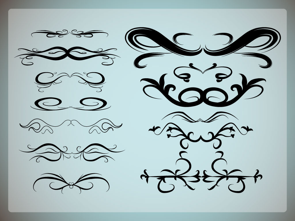 16 Moon Vector Scroll Designs Images