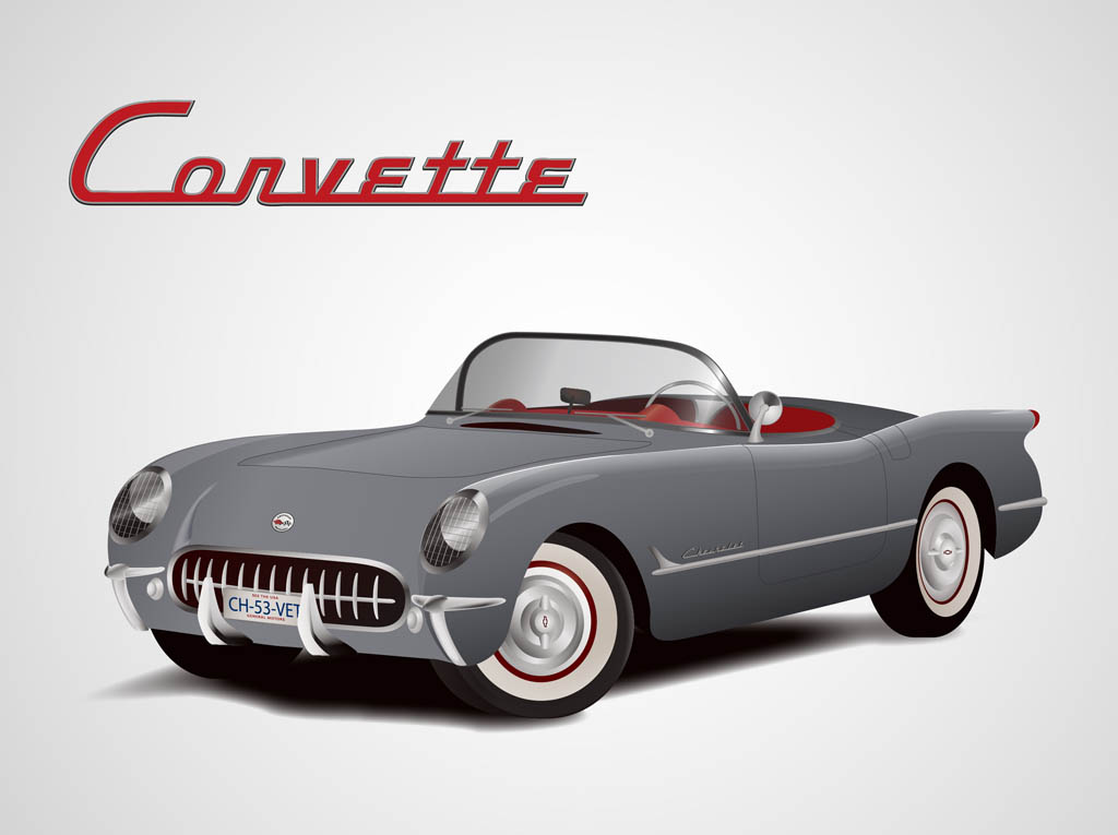 17 Corvette Vector Free Images