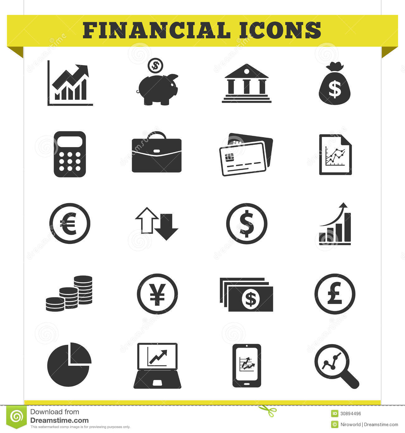 Free Vector Financial Icons