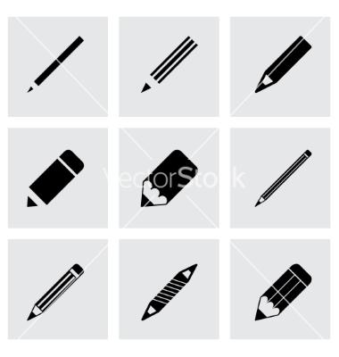 5 Pencil Vector Set Images