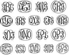 Free Vine Monogram Font