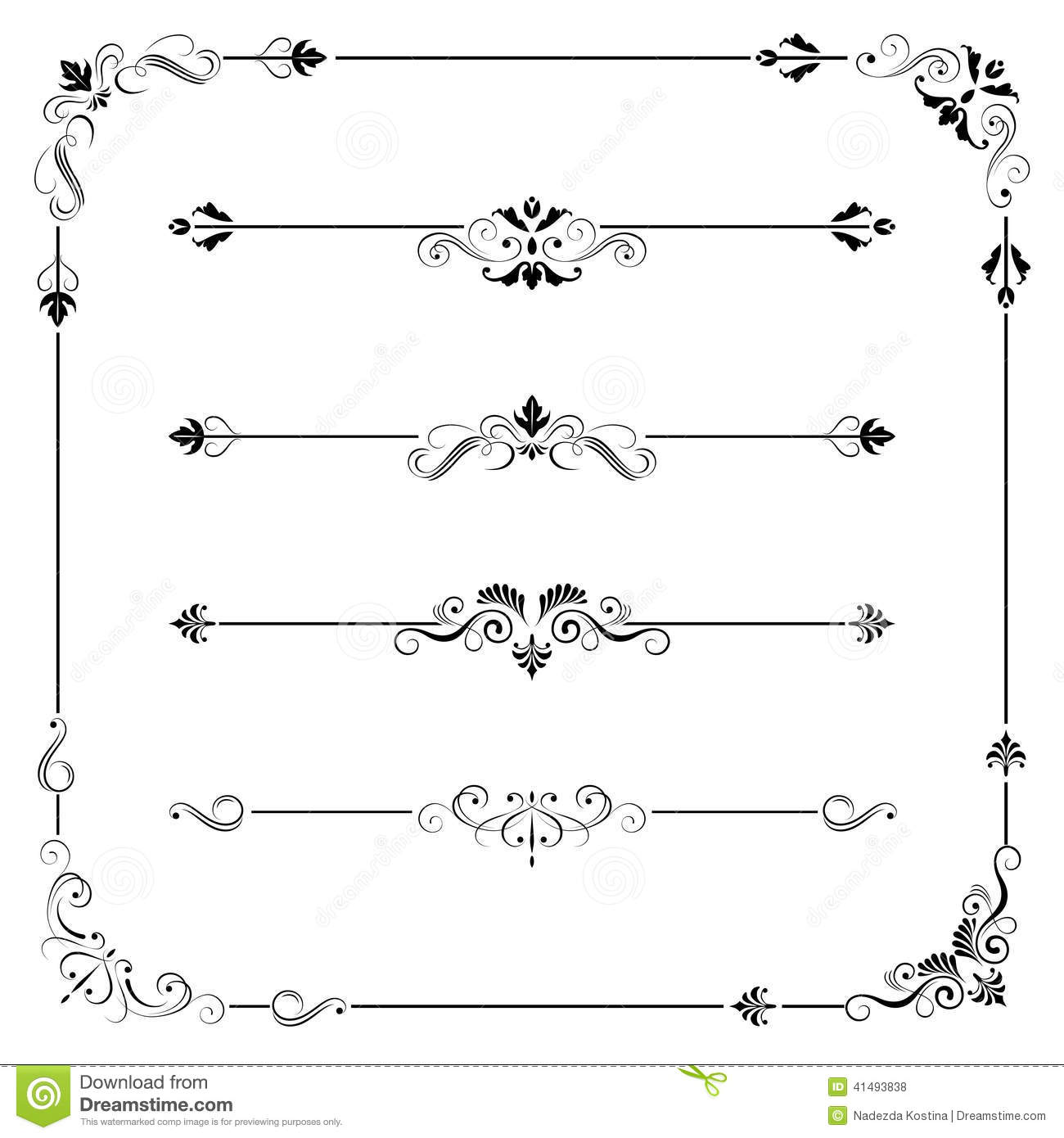 14 Simple Vintage Border Vector Images - Vintage Vector ...