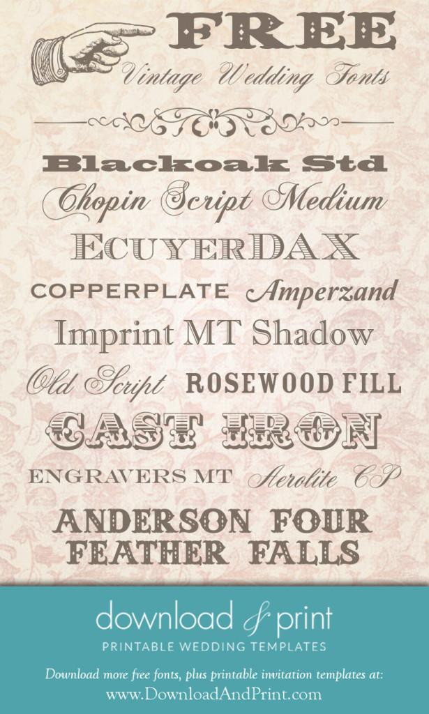 8 Free Vintage Fonts Images