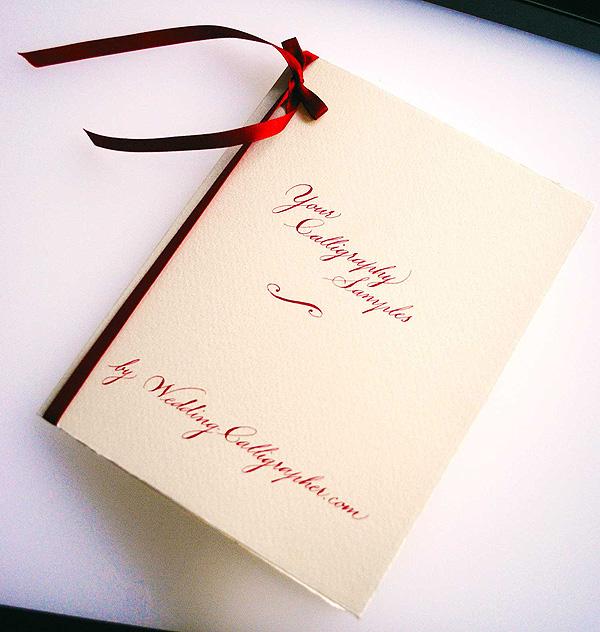 Free Wedding Calligraphy Samples
