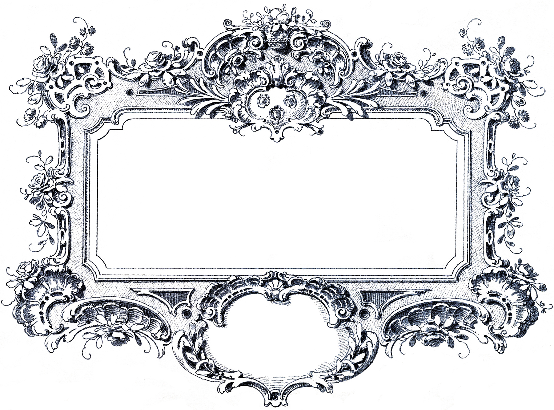 15 Text Frame Baroque Design Images