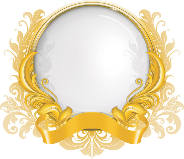 Gold Ribbon Vector Art Free