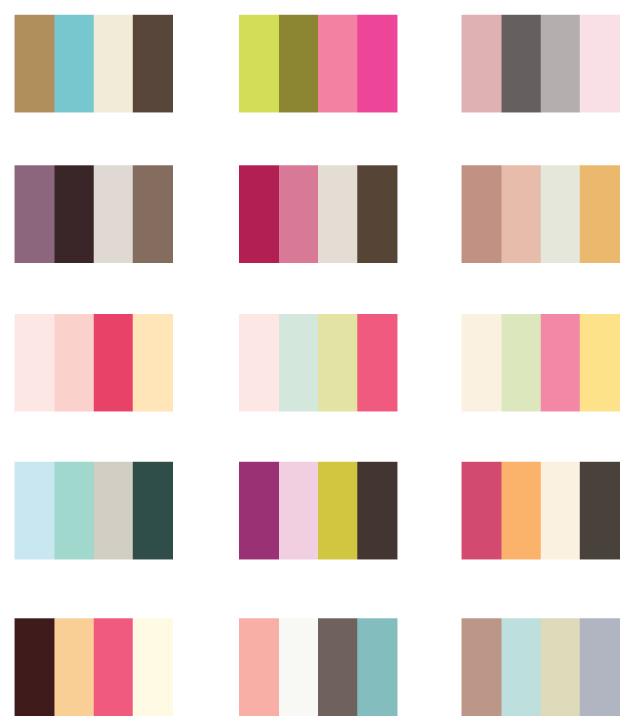 Graphic Design Color Palette Combinations