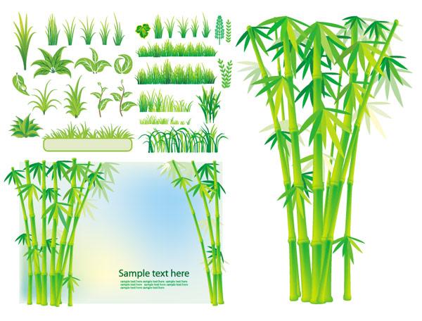 Grass Vector Art Bamboo