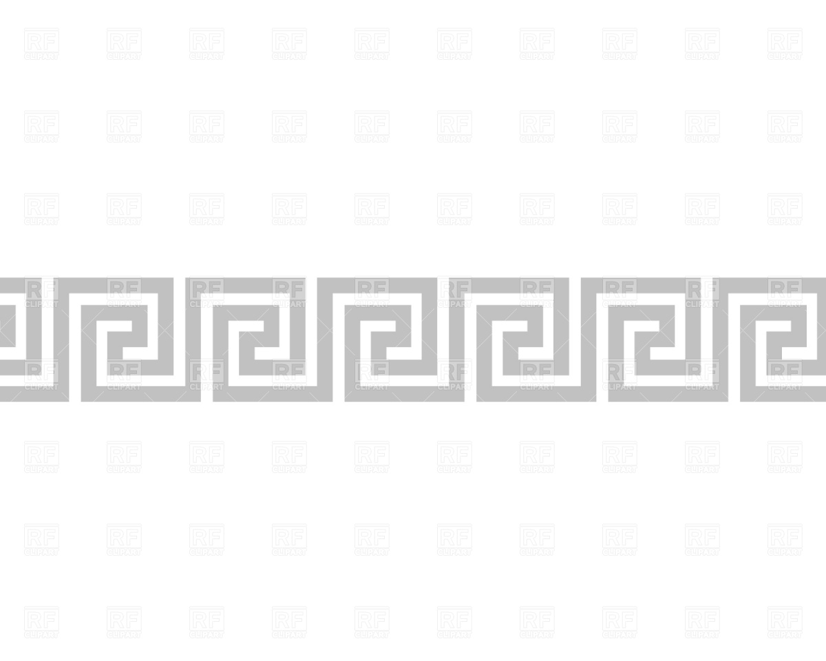 Greek Border Pattern Vector Art Free
