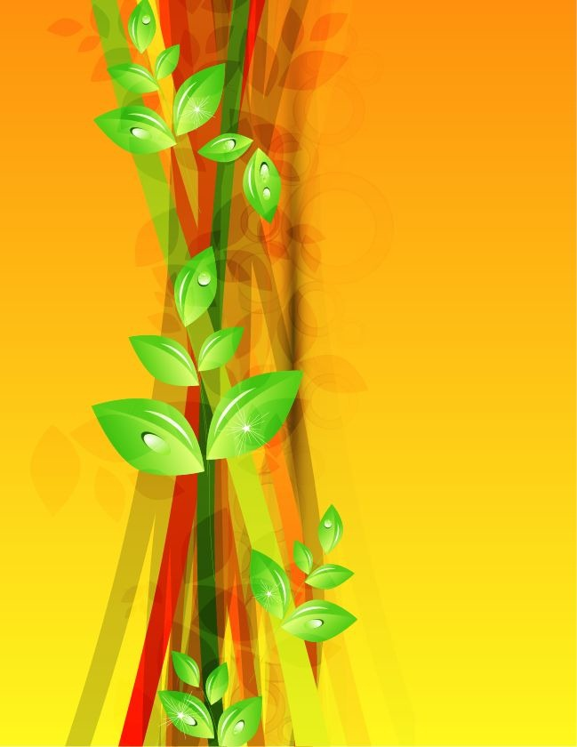 Green Abstract Floral Vector