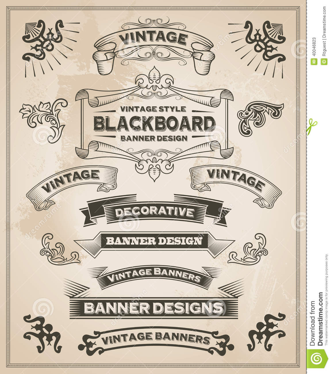 Hand Drawn Vintage Banner Designs