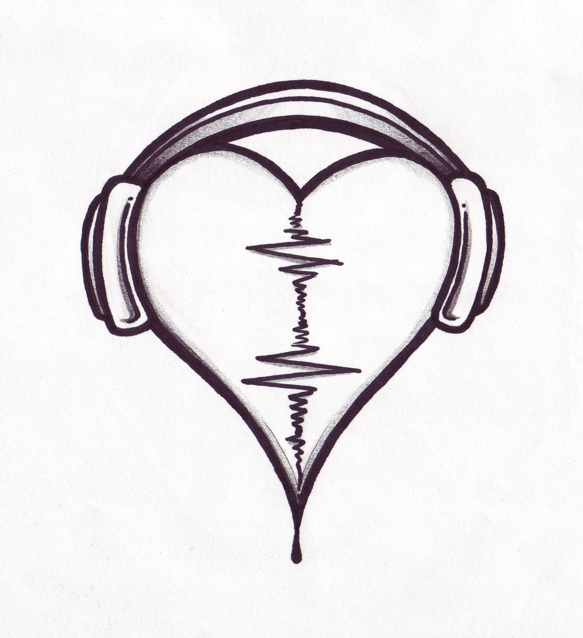 19 Heart Designs Cool Music Images Heart Tattoo Drawing Designs