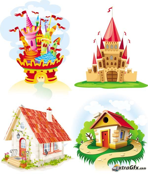 Houses Castle Cartoon