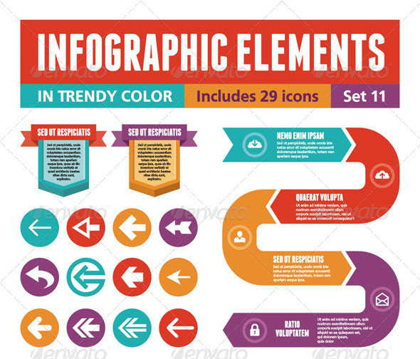 11 Infographic PSD Mock Up Images