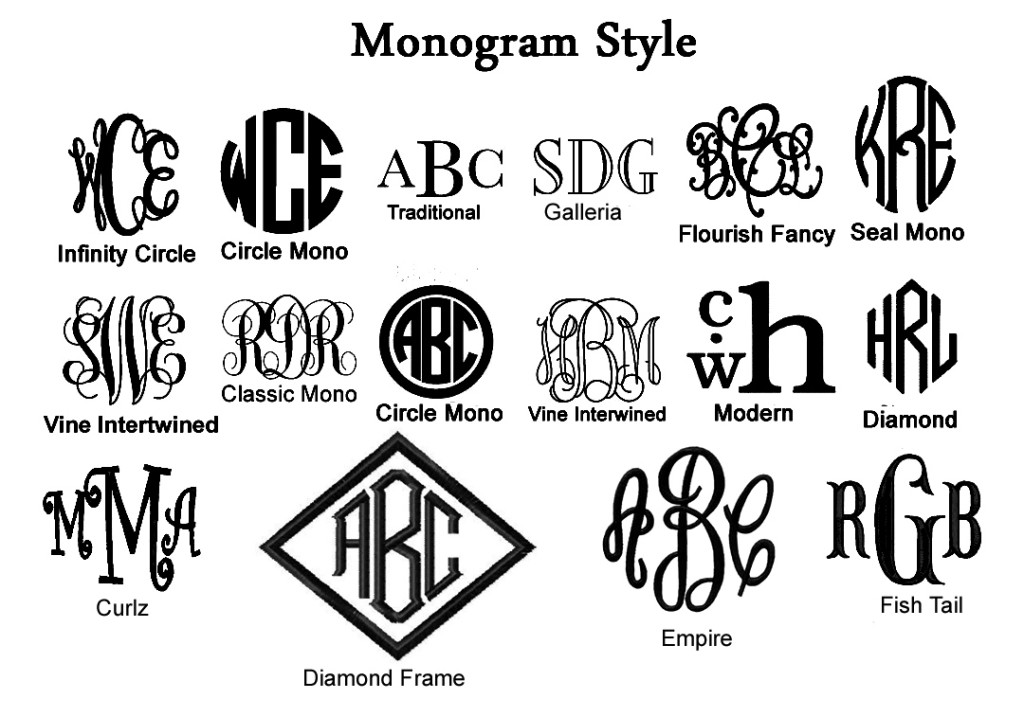 14 Top Fonts For Monograms Images
