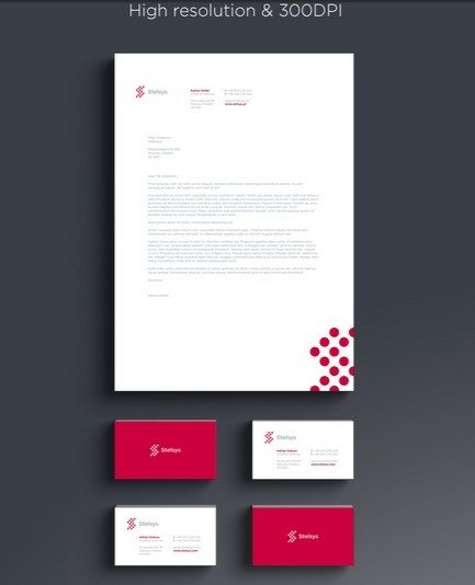 Letter Head & Business Cards Mockup PSD Template Branding Stationary