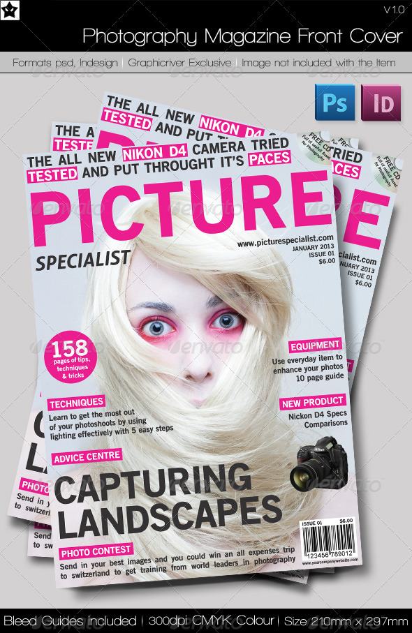 Magazine Front Cover Template