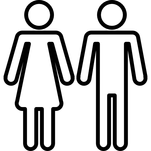 Male and Female Silhouette Outline