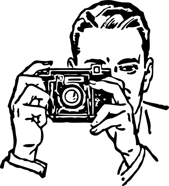 Man with Camera Clip Art Free
