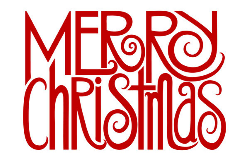 9 Christmas Word Font Images