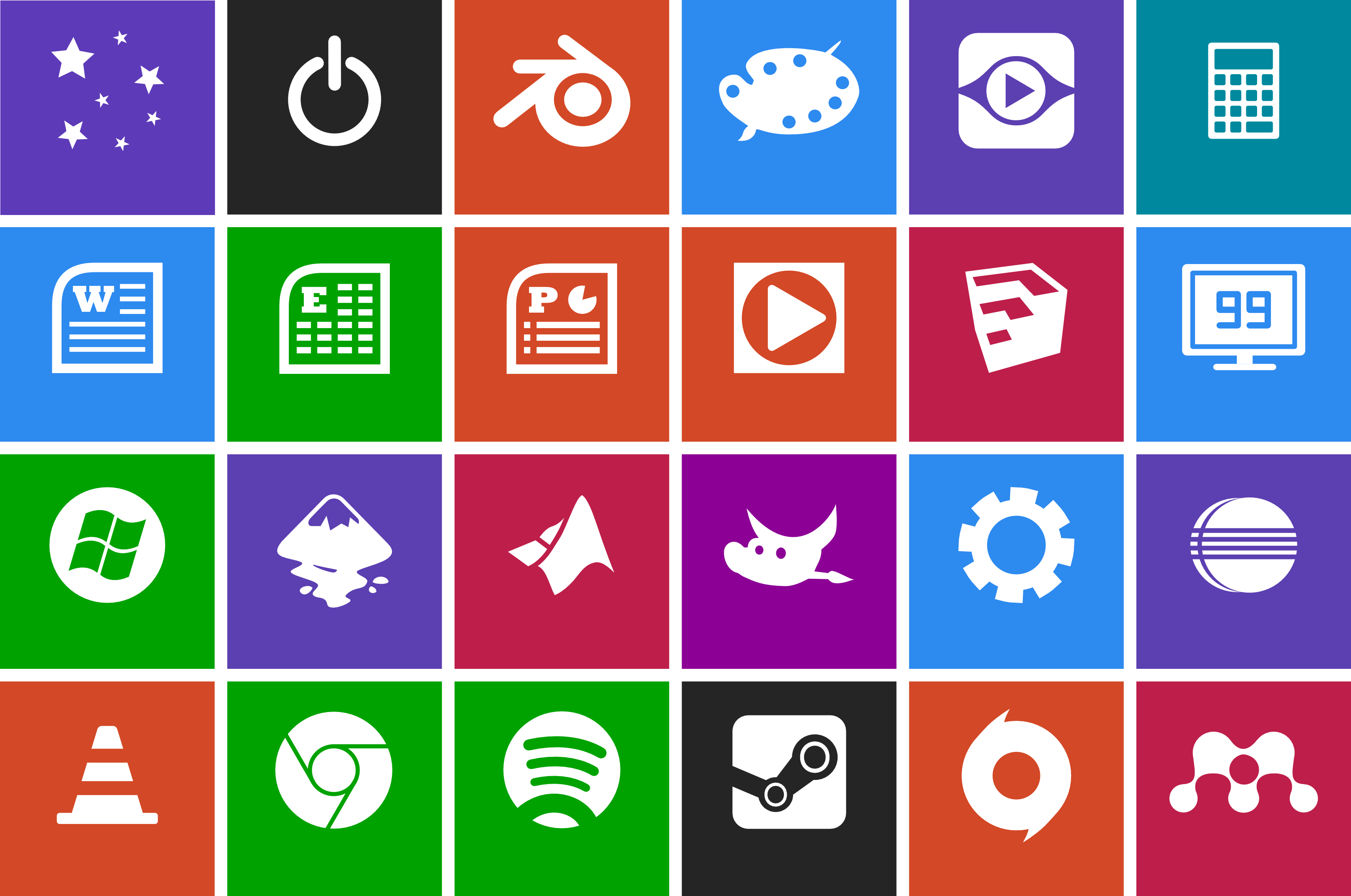 19 Metro Style Icons Library Images