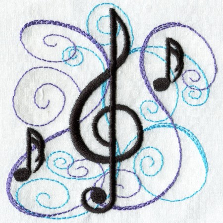 12 DJ Music Machine Embroidery Designs Images
