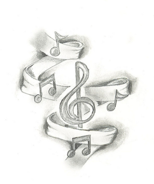 Music Notes Tattoos Ideas Drawings