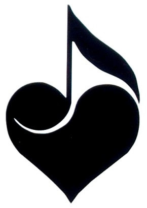 Music Notes with Hearts