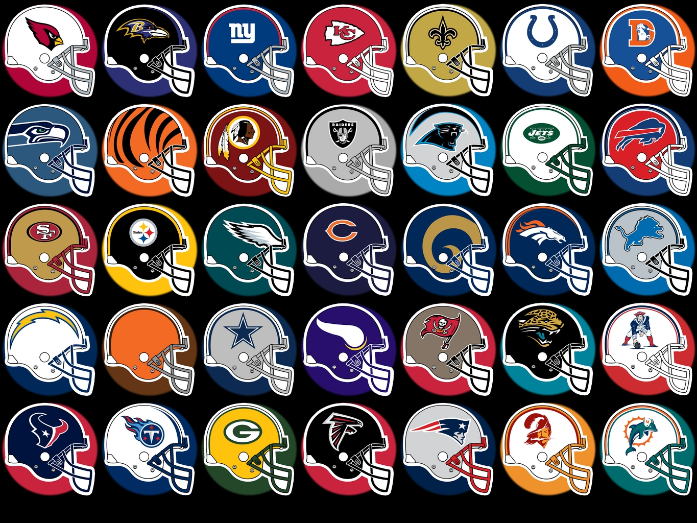 14 NFL Team Logos Vector Images