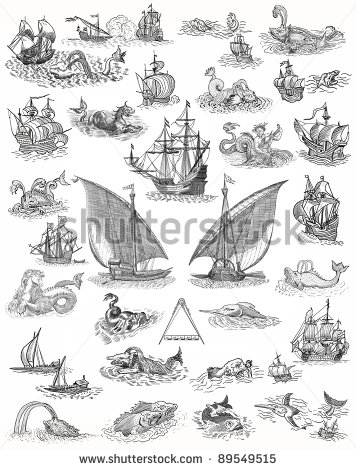 12 Old Map Icons Images Old Pirate Map Symbols Treasure Map Icons