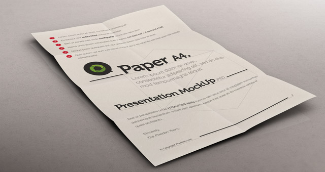Paper Mock Up Psd Free