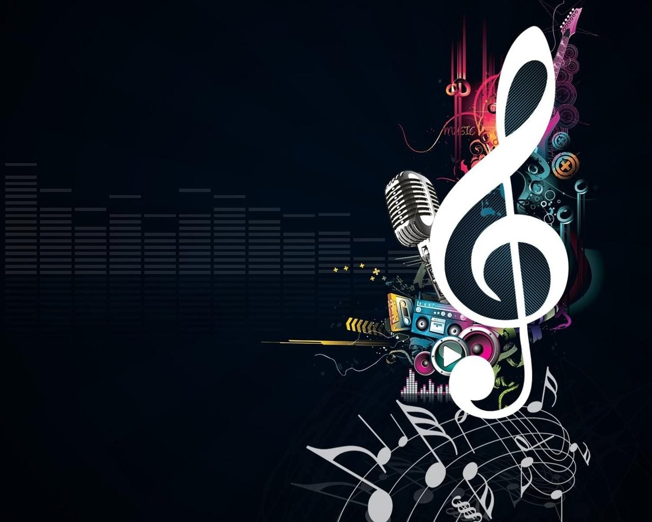 19 Cool Music Background Designs Images