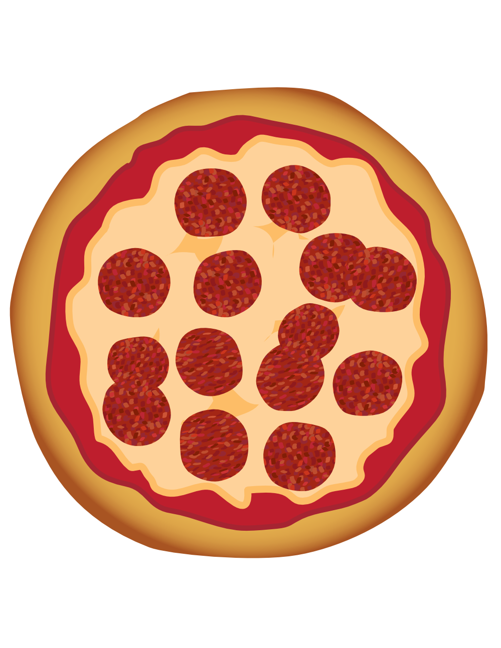 10 Pepperoni Pizza Vector Images