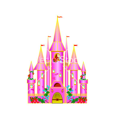 Pink Castle Cartoon