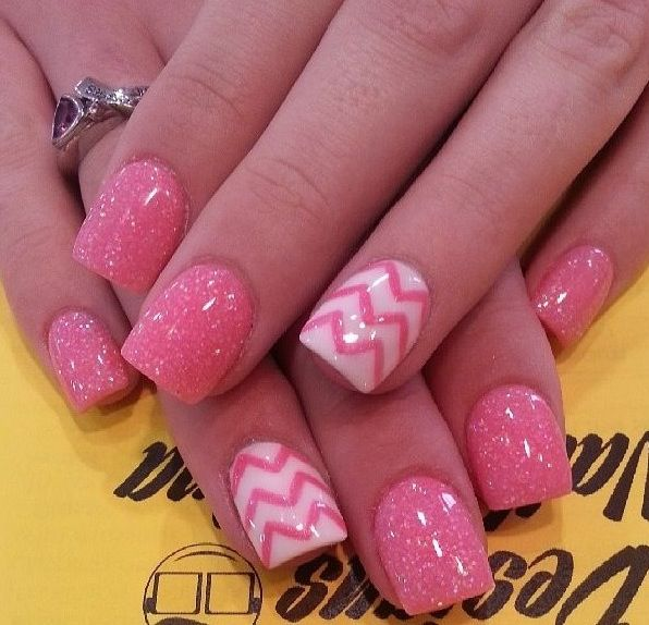 20 Pink Nail Art Designs Images