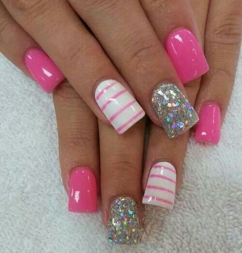 20 Pink Nail Art Designs Images Pink Nail Art Design Pink Nails