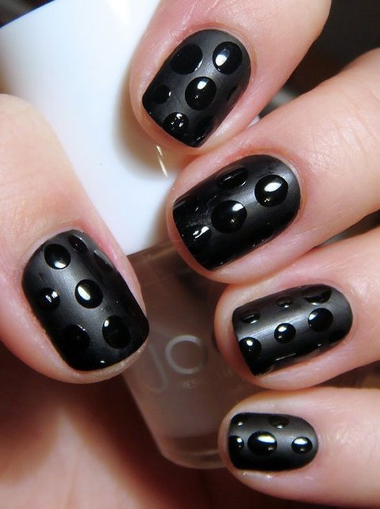 14 Simple Black Nail Designs Images