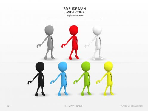 12 3d man icon images icon 3d man information thinking
