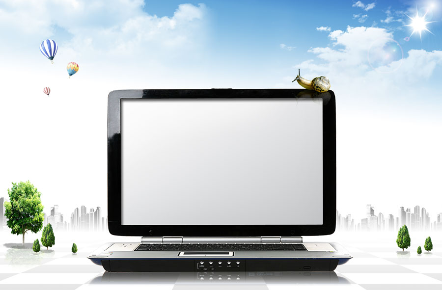 14 Computer Screen Template PSD Images