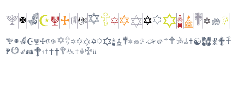 Religious Dingbat Fonts