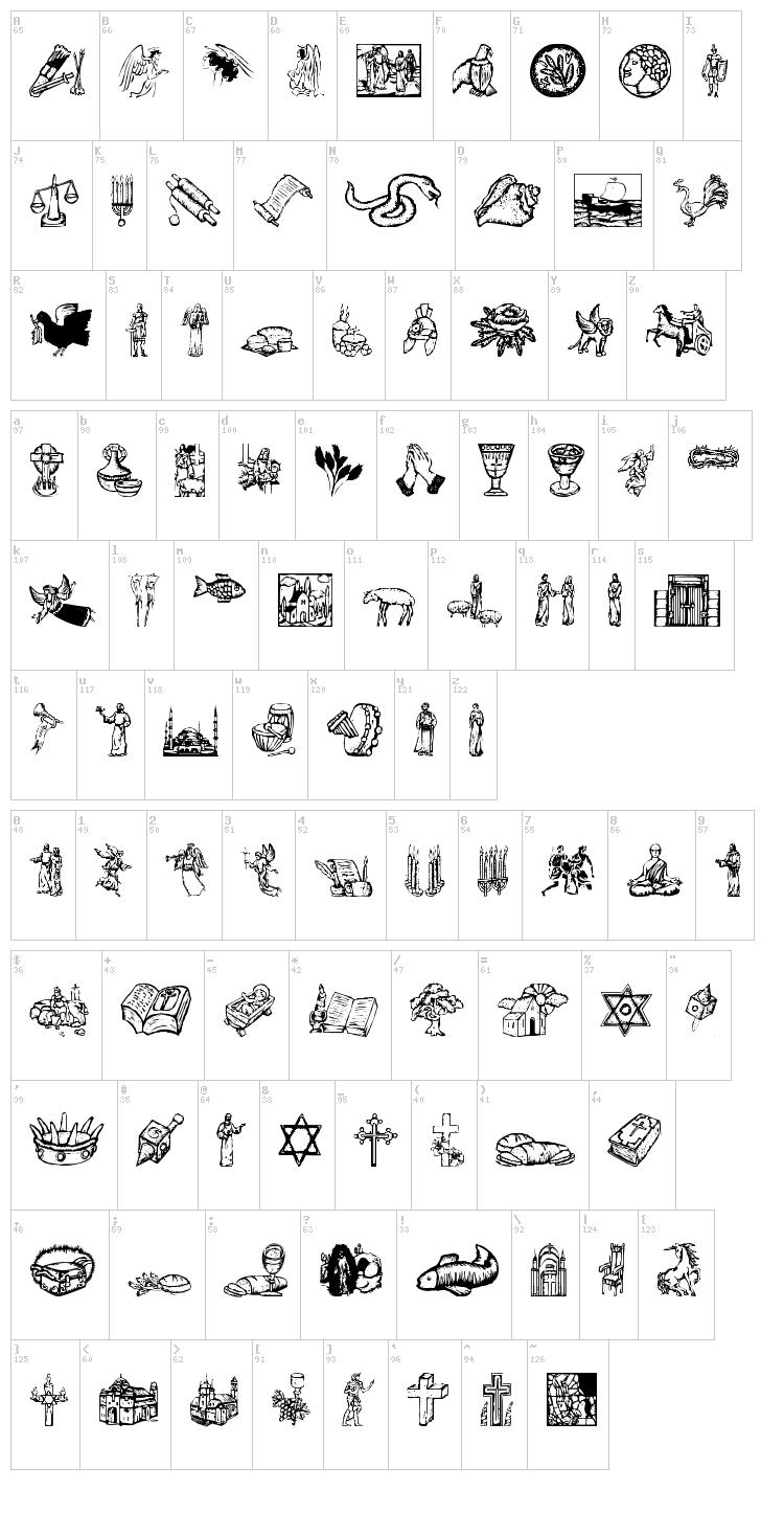 6 Religious Letters Font Images