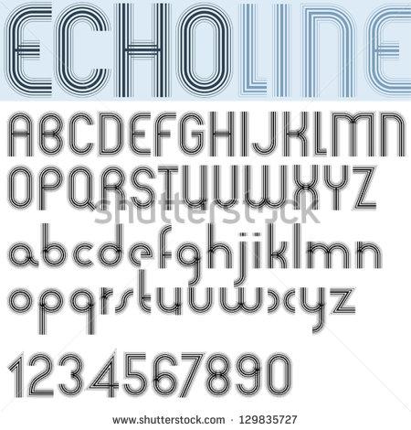 15 Striped Line Font Images