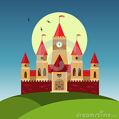 Royalty Free Cartoon Castle