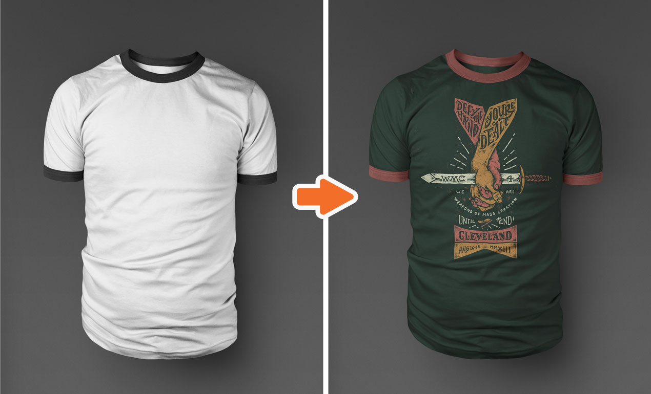 Shirt Mockup Template for Photoshop