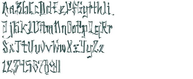 Sick Graffiti Fonts Letter A