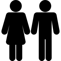 Silouette Male and Female Icons